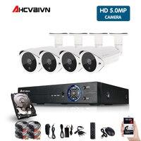 5MP HDMI 1080P CCTV система видеорегистратор 4 шт. 2560*1440P Домашняя безопасность Водонепроницаемый ночного видения камеры наблюдения наборы