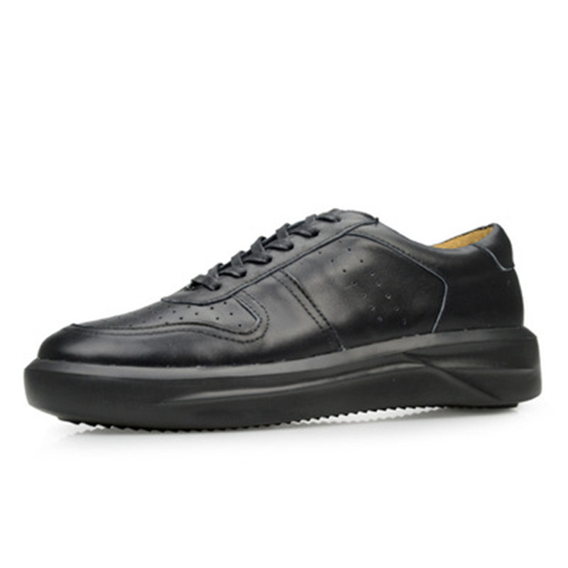 Luxury Trainers Summer Male Adult Shoes Casual Lace-up Flats Spring Black Shoes White Black Brogue Men Genuine Leather Shoes new men genuine leather shoes luxury trainers summer male adult shoes casual flats solid spring black lace up shoes
