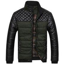 2016 Novo Clássico Homens Marca de Moda Quente Casacos Plus Size L-4XL Patchwork Xadrez Projeto Jovem Homem Casaul Casacos de Inverno, EDA0116