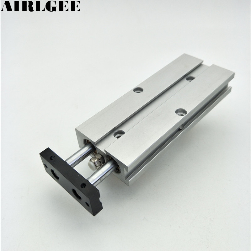 TN10x60 Alloy Double-shaft Dual Rod Slide Guiding Bore 10mm Stroke 60mm Pneumatic Air Cylinder