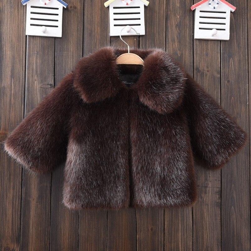 ФОТО New Arrival 2017 Black Mink Fur Coat for boy Turn-down Collar Faux Fur Coat Kid Winter Clothes Toddler Fur Clothes Fur Jacket