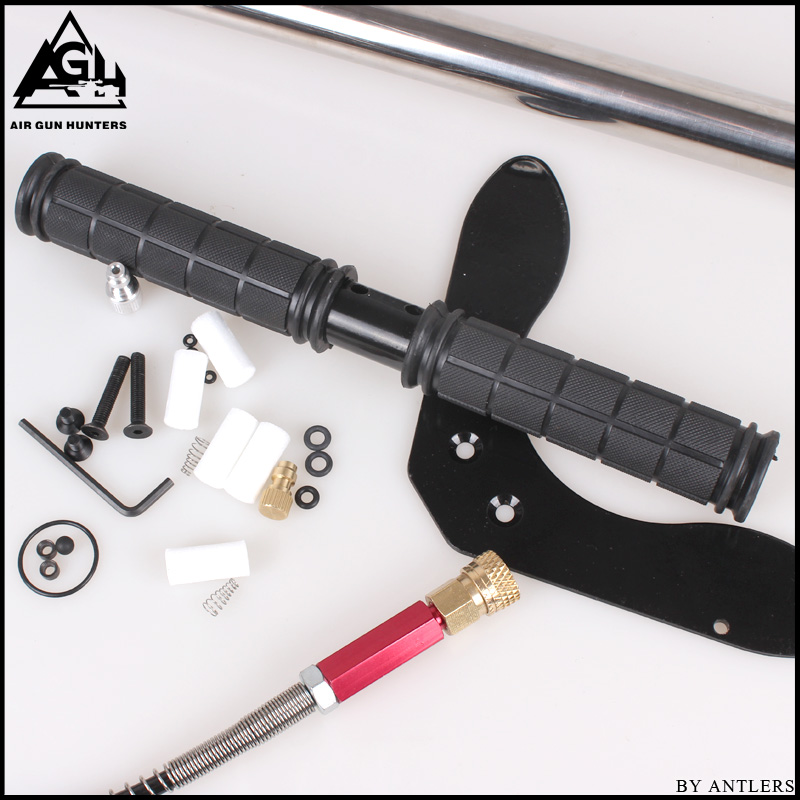 Image 2 - 30Mpa 4500psi 200Bar 3 Stage High pressure Air PCP Rifle Paintball Diving hand pump with filter Mini Compressor not hill pump-in Pumps from Home Improvement