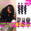 Brazilian Virgin Hair With Closure Body Wave With Closure Rosa Hair Products With Closure Brazilian hair bundles with closure