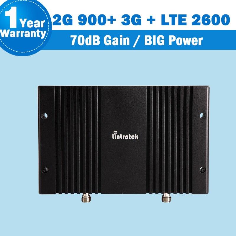 Tri bande GSM 900 mhz 3G UMTS 2100 mhz 4G 2600 mhz 70dB amplificateur cellulaire Mobile GSM 900 3G WCDMA 2100 LTE 2600 Signal répétez S32