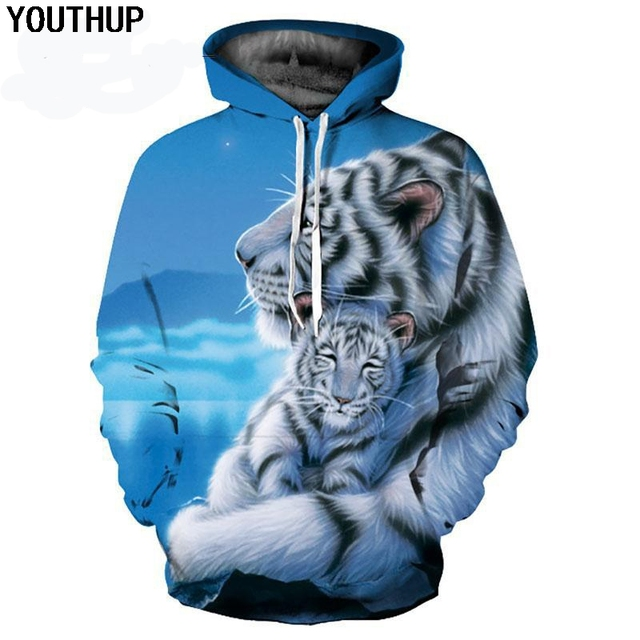 79c5d3f87d1f YOUTHUP Men 3d Hoodies Tiger Baby 3D Print Hooded Sweatshirts Men Plus Size  5XL Fashion Lovely Hoodies 3d Pullover Men Tracksuit