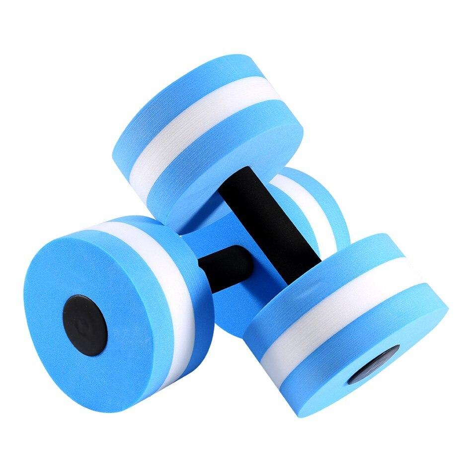 1 Paire Nouvelle Piscine Mancuernas Haltères pour Fitness Moyen Aquatiques Barbell Aqua Piscine Gym Poids Perte Équipement D'exercice Bleu