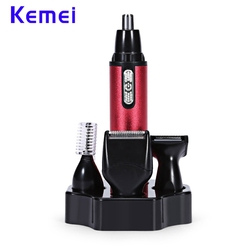 New 4In1 Fashion Nose Ear Trimmer KM-6620 Electric Shaving Safe Face Care Clipper Trimmer For Nose Hair Trimer Man And Woman