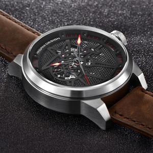Image 4 - Pagani Skeleton Tourbillon Mechanical Watch Men Automatic Classic Leather Waterproof Wrist Watches Reloj Hombre Mens Gift 2019