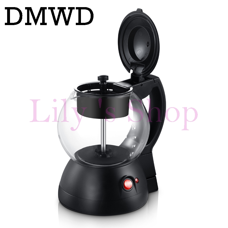 DMWD Electric kettle water heating Stove multifunctional health glass teapot tea pot coffee cooker milk boiler Tea Puer maker 1L electric kettle health care cup electric hot mini glass health pot office smart water brew teapot
