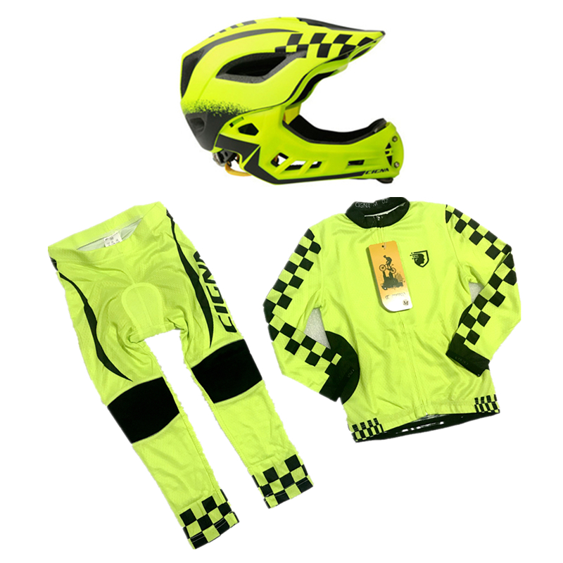 2-10 Year Old Kids Full Face Bicycle Helmet &Long Sleeves Cycling Jersey Set Outdoor Sports Full Covered Skating Riding Helmet2-10 Year Old Kids Full Face Bicycle Helmet &Long Sleeves Cycling Jersey Set Outdoor Sports Full Covered Skating Riding Helmet