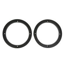 2Pcs New Universal 6.5 Inch Beveled Car Speaker Spacer Adapter Refitting Audio Mat For Toyota Nissan Car styling Speaker Spacer