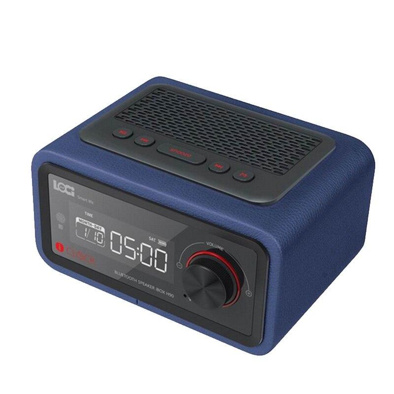 Bezprzewodowy budzik ustawienie funkcja radia FM Bluetooth Plug in głośnik przenośny głośnik multimedialny małe Stereo Mini zegary w Budziki od Dom i ogród na  Grupa 1