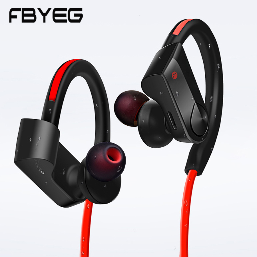 FBYEG Bluetooth Earphone wireless headphones Bluetooth Sport headset Sweatproof Earbuds Bass Noise cancelling With Mic For phone mifo u6 bluetooth headphones wireless sport earphone noise cancelling running earbuds waterproof hifi stereo with mic for iphone