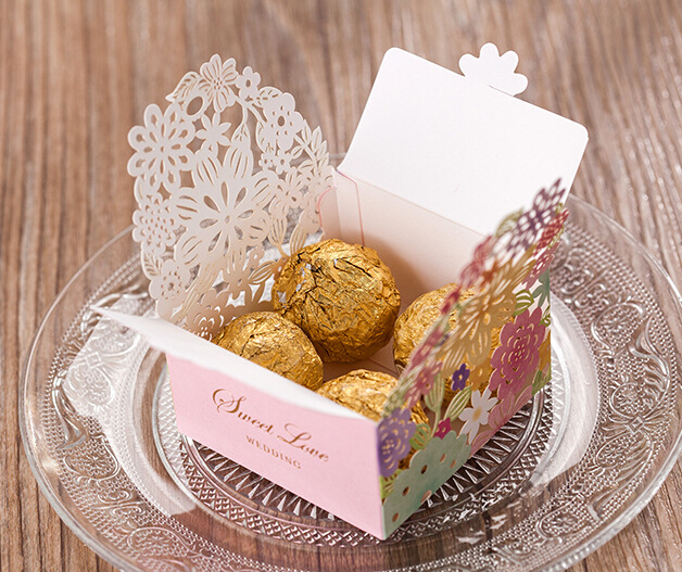 30pcs/Lot Wholesale Wedding Candy Box Candy Bar Flowers Gift Box ...
