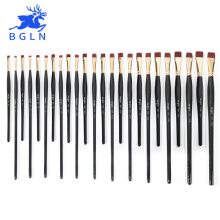 1Piece Nylon Hair Flat Brush Different Shape Watercolor Paint Brush Long Handle Oil Acrylic Painting Brush Art Supplies 715 764