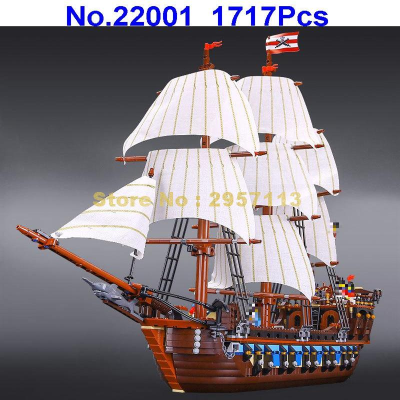 LEPIN 22001 1717pcs Pirate Ship Imperial warships Building Block Compatible 10210 Brick Toy in stock new lepin 22001 pirate ship imperial warships model building kits block briks toys gift 1717pcs compatible10210