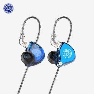 Image 1 - 2019 את ריחני ציתר TFZ T2 שלב אוזניות 2Pin מתכת לוחית HIFI צג IEM 3.5mm באוזן ספורט מוסיקה דינמי DJ Earbud