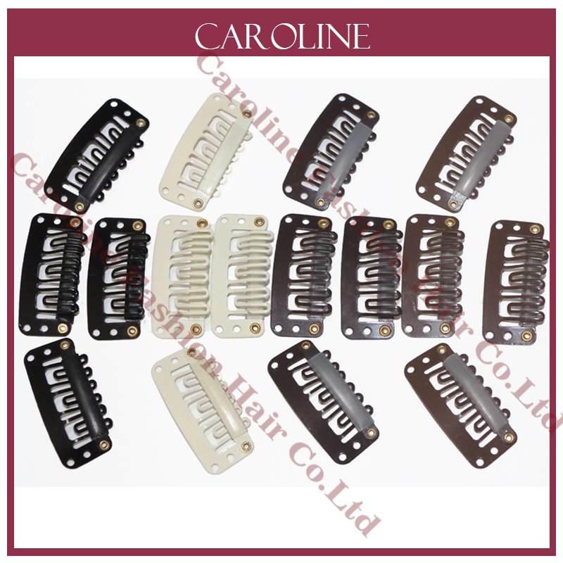 50pcs Hairpins 28mm Hair Extension Clips Black Snap Clips For Hair
