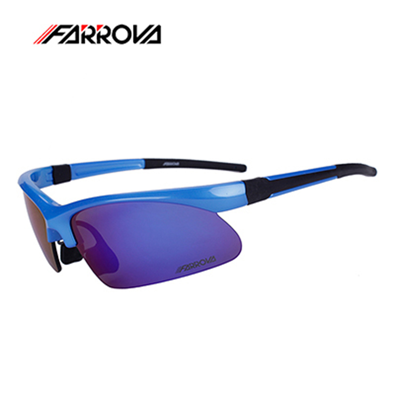 FARROVA Professional 5 Lenses Polarized Cycling Sunglasses Outdoor Bike Goggles Unisex Sport Bicycle Eyewear Accessories