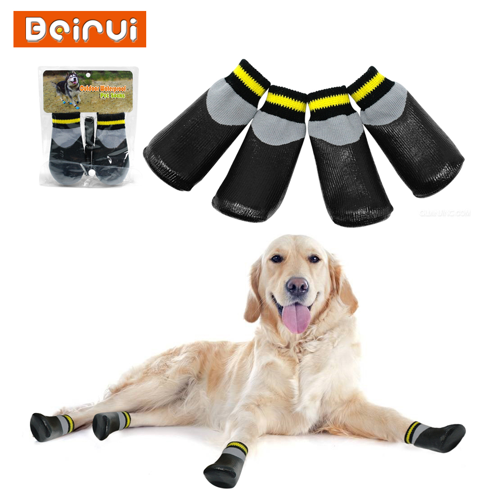 Detail Feedback Questions about Outdoor Waterproof Dog Socks Rain Wear Non  Slip Anti Skid Cotton Elastic Shoes with Fixed Belt for All Breeds  Chihuahua ... 9356f515dbbd