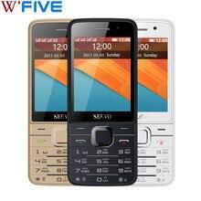Orijinal Telefon Dört SIM Kartları SERVO V9500 2.8 inç 4 SIM kart 4 bekleme GPRS Bluetooth titreşim rusça klavye Cep telefonları