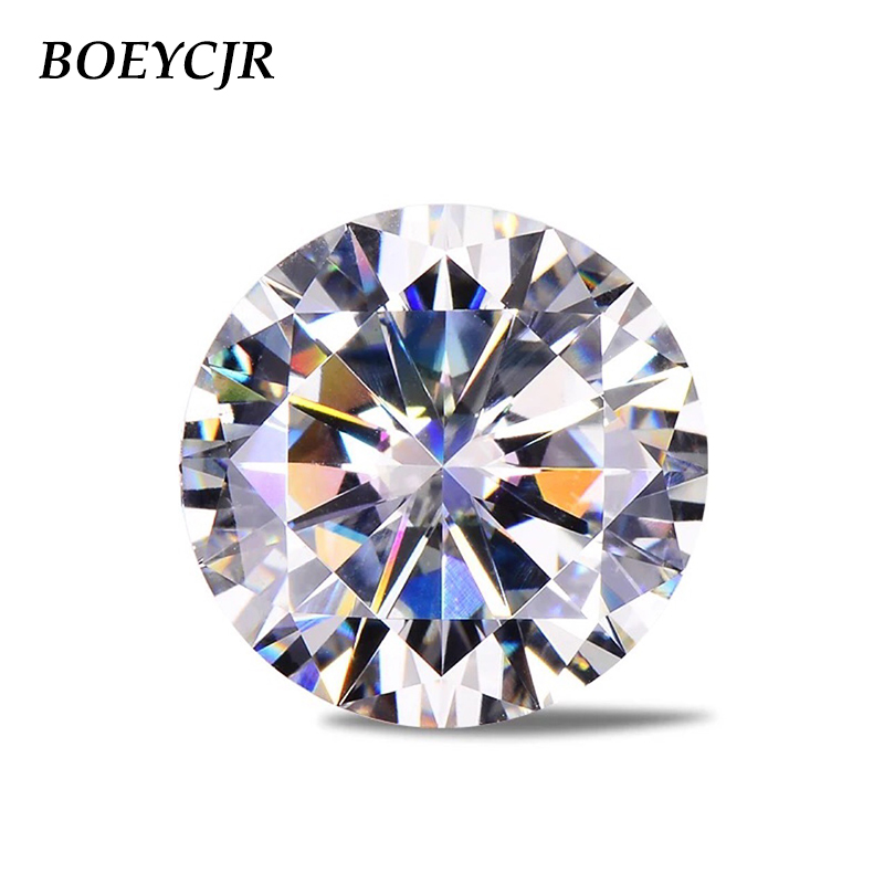 BOEYCJR Engagement-Ring Jewelry Stone VVS1 Moissanite Loose Brilliant Round 3ct 9mm Cut