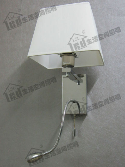 Bedroom Reading Lamp With Flexible LED Reading Light Stages - Bedroom reading lights with switch