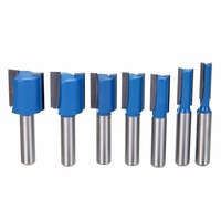 7pcs 8mm Shank Straight Dado Router Bit Set 6mm 8mm 10mm 12mm 14mm 18mm 20mm Woodworking
