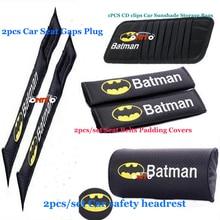 For Batman logo 2PCS/SET Automobiles Car Headrest Car Neck P