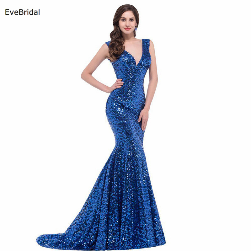 Mermaid V Neck   Evening     Dresses   Formal   Dresses   Off the Shoulder Floor Length Sweep Train Pageant Runway Show   Dress
