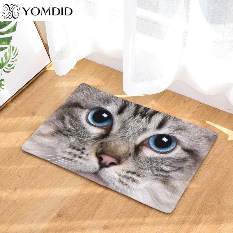 cute Floor Mats Animal Cat Printed Bathroom Kitchen stair Carpets Doormats water absorbs rug for Living Room Anti-Slip Tapete