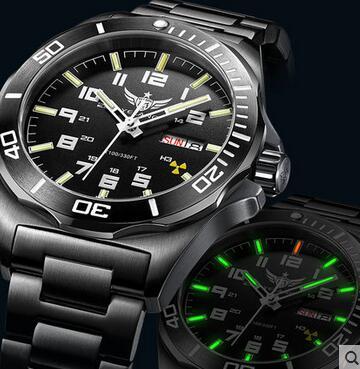 Yelang 남자 자동 시계 삼중 수소 라이트 t100 일본 최고 운동 24 보석 날짜 데이 사파이어 회전 다이얼 wr100m 기계식 시계-에서기계식 시계부터 시계 의  그룹 1