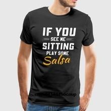 8d3c0111d 100% Algodão O-neck Personalizado Impresso camiseta Homens instrutor de  dança Salsa Mulheres tshirt