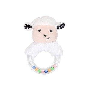 Image 5 - Nette Baby Rassel Spielzeug Kaninchen Plüsch Baby Cartoon Bett Spielzeug baby 0 12 monate Bildungs baby rassel Kaninchen Hand glocken погремушки