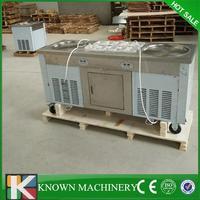 Pedal abtauung R410 kältemittel 304 edelstahl 2 runden pfannen mit 10 kühlung tanks gebraten eismaschine kostenloser versand-in Eismaschinen aus Haushaltsgeräte bei