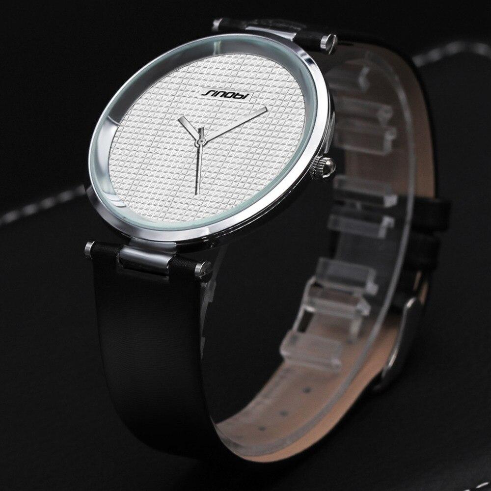 SINOBI Super Slim Watches For Men ultrathin Steel Quartz Watch Males Elegant Brief Style Wristwatches Luxury Brand Men relojes vapeberry slim steel