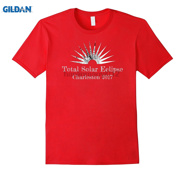 GILDAN Charleston Total Solar Eclipse T-Shirt sunglasses women T-shirt
