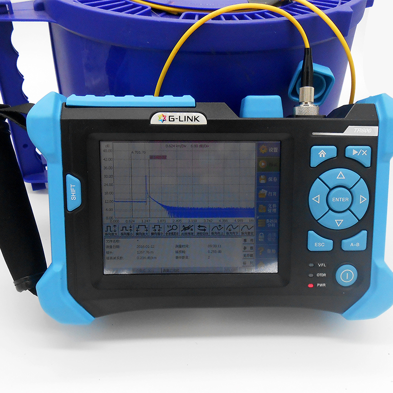 G LINK TR600 OTDR Optical Time Domain Reflectometer 1310/1550+1625nm 38/36/34dB Fiber Optical Otdr Testing English menu BY DHL ...
