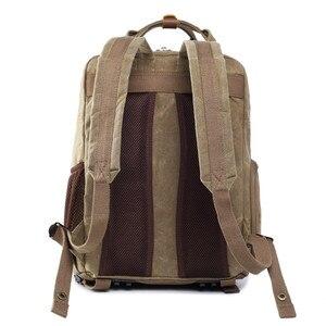 Image 4 - Batik wodoodporna płócienna lustrzanka cyfrowa plecak na akcesoria fotograficzne wytrzymały fotograf wyściełana torba na aparat fotograficzny do obiektywu Flash fit 15 Laptop