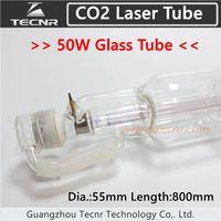 50 Вт CO2 стеклянная лазерная трубка 800 мм для CO2 лазерная гравировальная машина