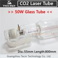 50W CO2 Glass Laser Tube 800MM For CO2 Laser Engraving Machine