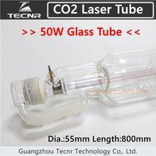 50 W CO2 tubo del laser de cristal 800 MM para el láser de CO2 máquina de grabado