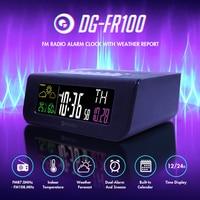 Digoo DG-FR100 SmartSet Wireless Digital Alarm Clock Weather Forecast Sleep with FM Radio Clock Mutifunctional Colorful Screen