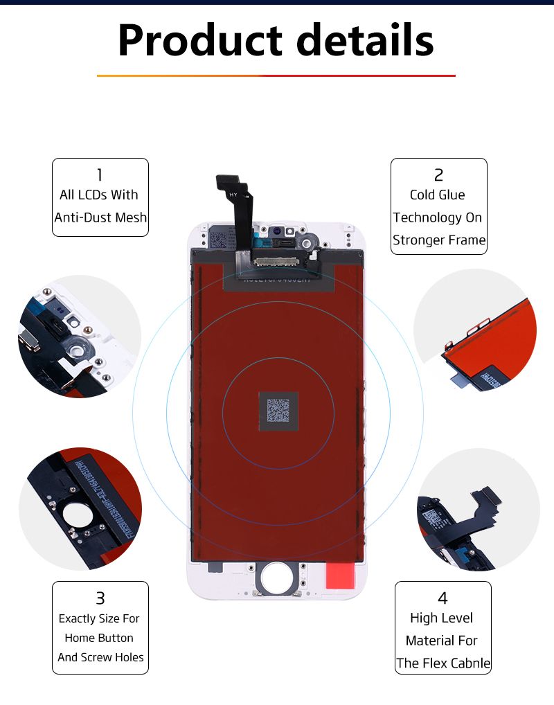 HTB1r6QKaorrK1RkSne1q6ArVVXau AAA+++ Quality LCD Display For iPhone 6 Touch Screen Replacement For iPhone 5 5c 5s SE 4s No Dead Pixel+Tempered Glass+Tools+TPU