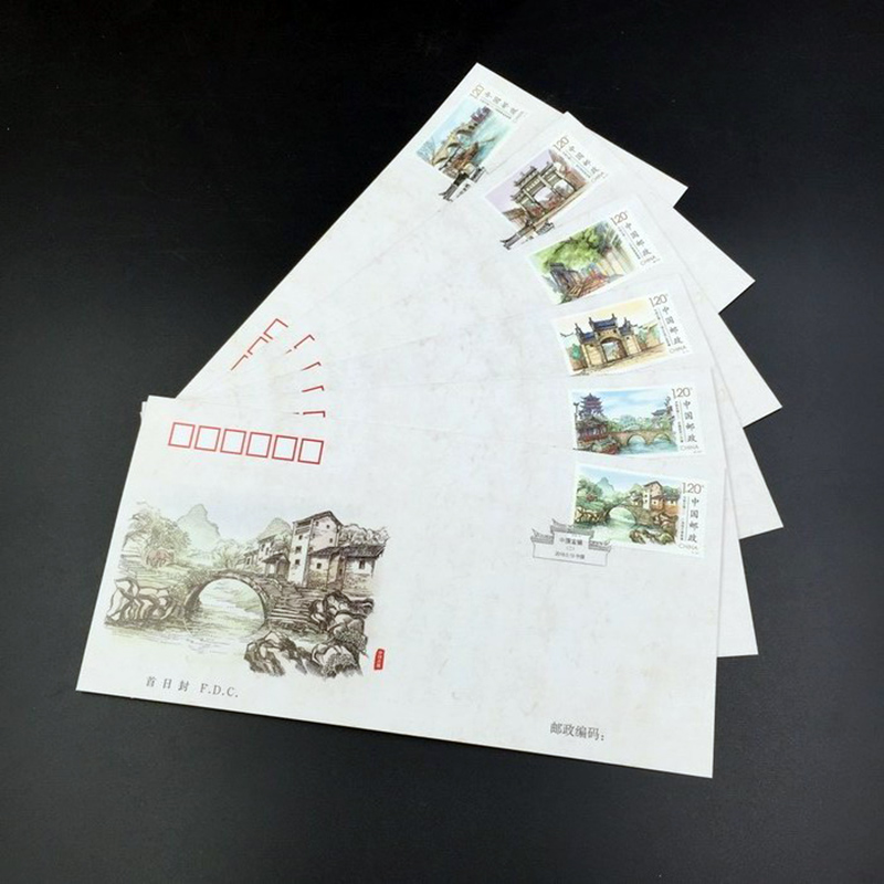 china post stamp 2016-12 Ancient Town of China (II) FDC frist day cover postage stamp collecting postage stamps souvenir sheet наволочка к детскому эргономическому матрасику cocoonababy s 3 fitted sheet s3 fdc powder blue