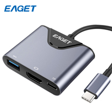 EAGET 3-in-1 USB C USB Hub 3.0 Port To HDMI USB Splitter With Type-C Power Delivery 4K Video HD USB-C HUB Type C HUB For MacBook