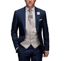 New Arrival Custom Made Men Suits Groom Prom Suits Mens Casual Tuxedos Wedding Suits Formal Blazers Jacket+Pants+Vest