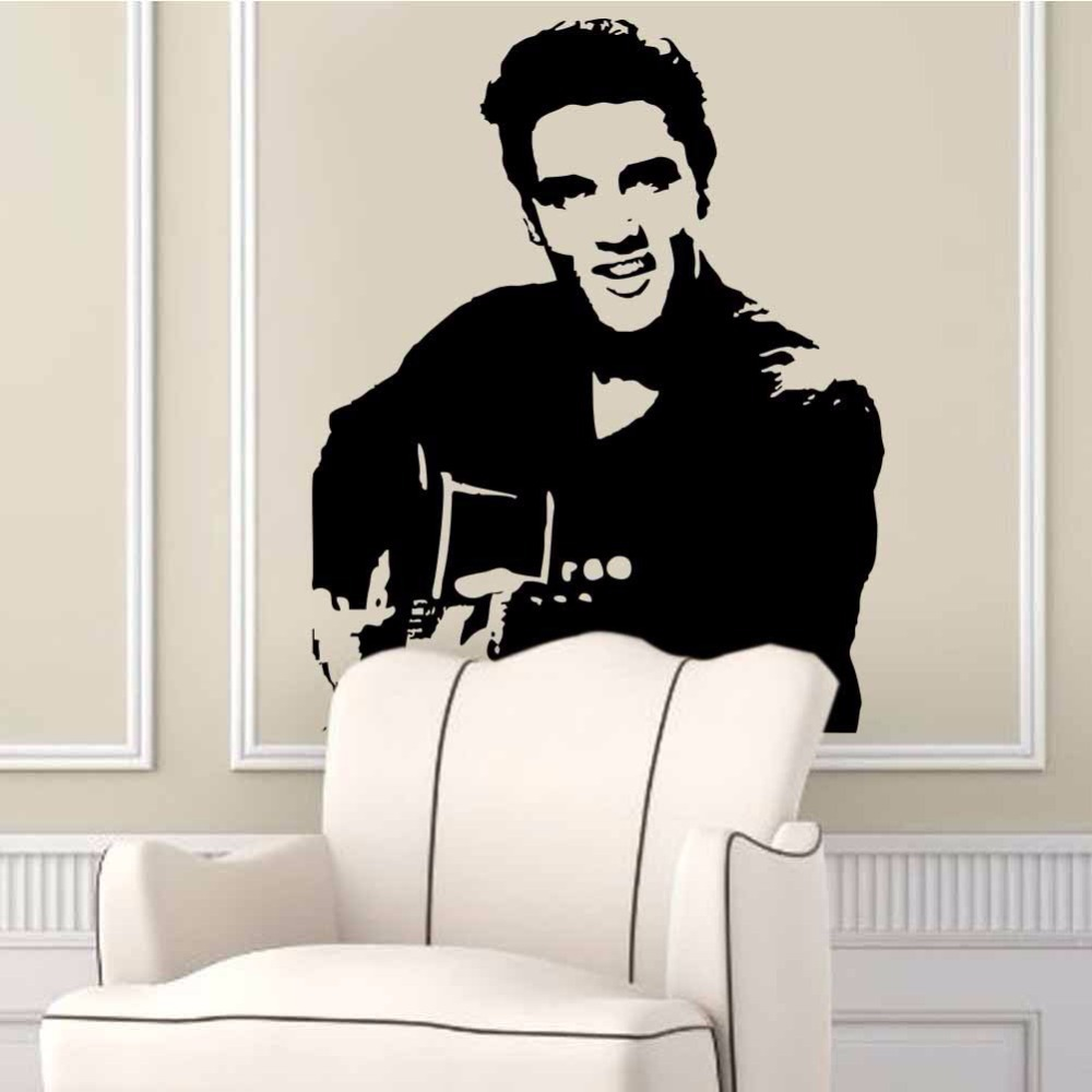 Online Get Cheap Wall Decals Elvis Aliexpresscom Alibaba Group - How to make vinyl wall decals with silhouette