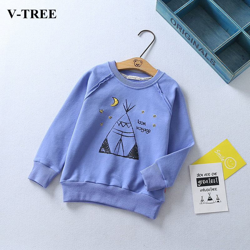 V-TREE Children T-shirt Cotton Shirts For Boys Long Sleeve Girls T-shirts Kids Top Cotton Children Tees Baby Sweatshirt Clothing