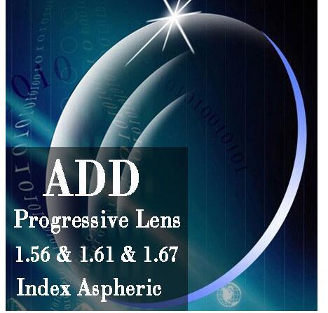 ADD Free Form Progressive Lenses Multifocal Eyeglasses Myopia Prescription Customized Lens